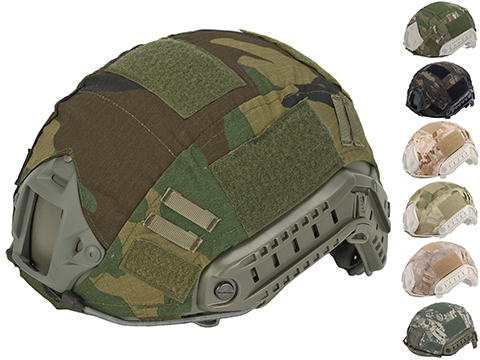 Emerson Tactical Helmet Cover for Bump Type Airsoft Helmets (Color: Woodland)