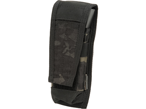 EmersonGear Single M4/M16 Magazine Pouch with Flap Closure (Color: Multicam Black)