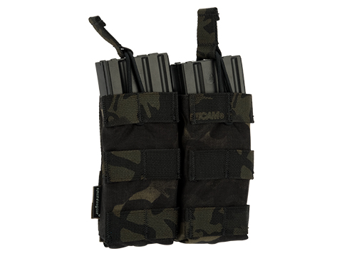 Emerson Modular Open Top Double 5.56mm Magazine Pouch (Color: Multicam Black)