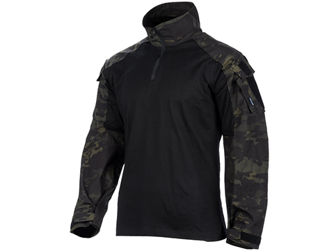 EmersonGear Blue Label 1/4 Zip Tactical Combat Shirt (Color: Multicam Black / XX-Large)