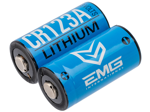 High Performance CR123A 3V Lithium Battery (Quantity: Pack of 2 / EMG)