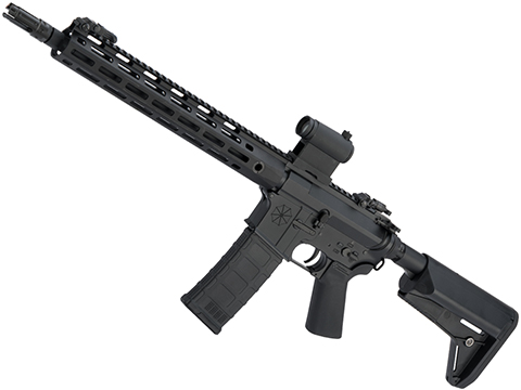 Helios Umbrella Corporation Weapons Research Group Licensed M4 M-LOK Airsoft AEG Rifle (Color: Black / Carbine )