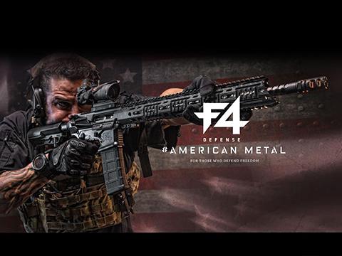 EMG Helios F4 Defense Licensed F4-15 ARS-L MLOK M4 Airsoft AEG Rifle (Model: Carbine / Black)