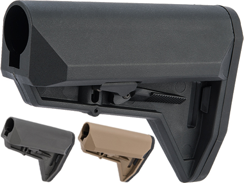EMG ALPHA Combat Ready Retractable Stock for M4 Series Airsoft Rifles (Color: Black / Stock Only)