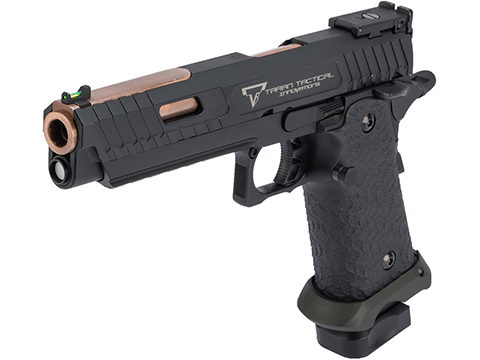 EMG TTI Licensed JW3 2011 Combat Master Airsoft Training Pistol w/ Custom Island Barrel (Model: Green Gas)