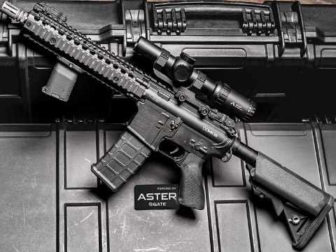 EMG / Daniel Defense Licensed SOPMOD Block II w/ GATE ASTER Programmable MOSFET (Model: Mk18 / Black)