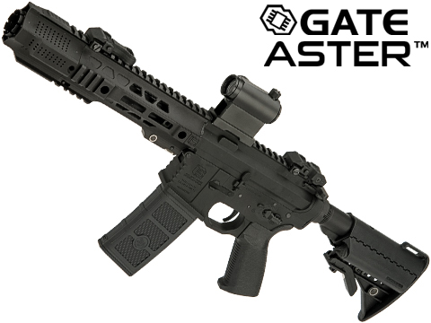 EMG / SAI Licensed GRY AR-15 AEG Training Rifle w/ JailBrake Muzzle w/ GATE ASTER Programmable MOSFET (Configuration: CQB / Black Non-ITAR)