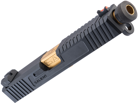 EMG/Salient Arms International Tier 2 Slide Kit for Elite Force GLOCK 17 Gen 3 (Color: Black / Gold Barrel)