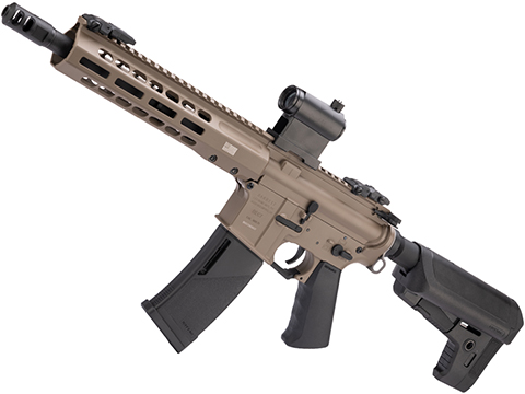 EMG / KRYTAC / BARRETT Firearms REC7 DI AR15 AEG Training Rifle (Length: SBR / Flat Dark Earth)