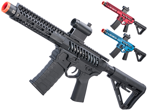 EMG F-1 Firearms PDW AR15 eSilverEdge Airsoft AEG Training Rifle (Model: 3G Style 2 / RS3 / Red)