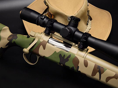 EMG Barrett Fieldcraft Airsoft Precision Bolt-Action Sniper Rifle with Featherweight Zero Trigger (Color: Woodland)