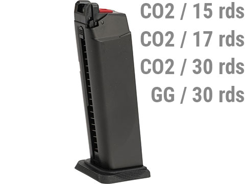 EMG Magazine for BLU & GLOCK Series Gas Airsoft Pistols (Model: Basic / CO2 / 25rds)