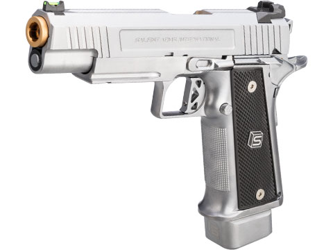 EMG / Salient Arms International 2011 DS 5.1 Full Auto Select Fire GBB Pistol (Color: Silver / CO2)