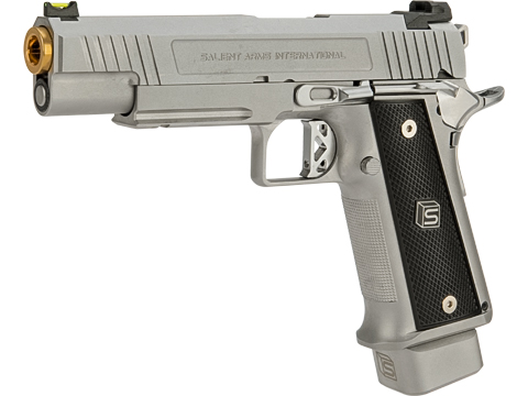 EMG / Salient Arms International 2011 DS 5.1 Airsoft Training Weapon (Color: Silver / Green Gas)