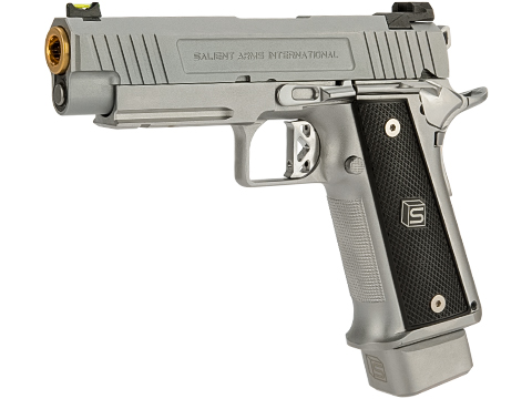 EMG / Salient Arms International 2011 DS Airsoft Training Weapon (Model: 4.3 Green Gas / Silver)