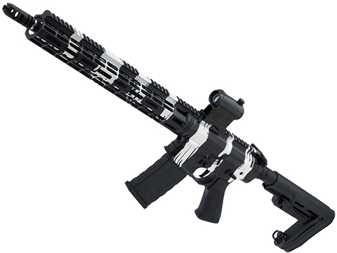 EMG Custom Cerakote Falkor AR-15 RECCE Training Weapon M4 Airsoft AEG Rifle (Color: Zebra Camo)