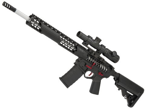 EMG F-1 Firearms BDR-15 3G AR15 Full Metal Airsoft AEG Training Rifle (Model: Black / Red / eSE)