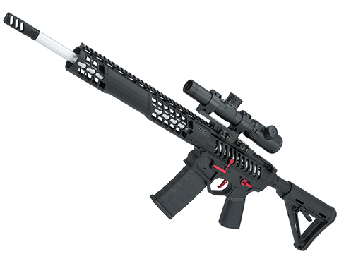 EMG F-1 Firearms BDR-15 3G AR15 Full Metal Airsoft AEG Training Rifle (Model: Black / Red / Magpul / 350 FPS)