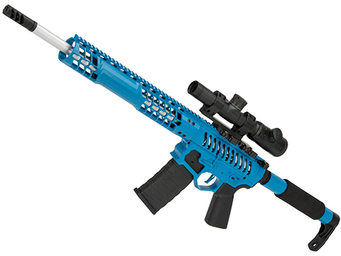 EMG F-1 Firearms BDR-15 3G AR15 Full Metal Airsoft AEG Training Rifle (Model: Blue / Tron / 350 FPS / eSE)