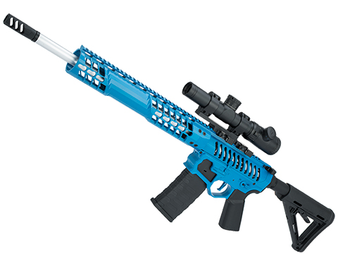 EMG F-1 Firearms BDR-15 3G AR15 Full Metal Airsoft AEG Training Rifle 400 FPS (Model: Blue / Magpul)