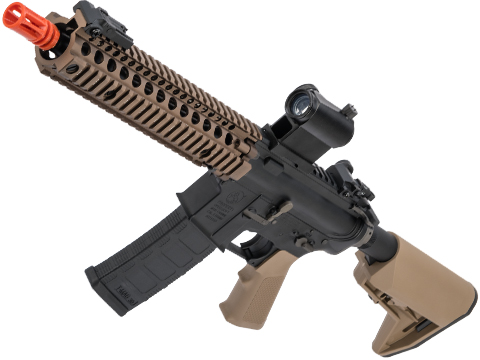 EMG Colt Licensed M4 SOPMOD Block 2 Airsoft AEG Rifle with Daniel Defense Rail System (Model: 9.5 MK18 350 FPS / Tan)