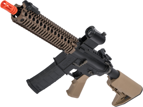 EMG Colt Licensed M4 SOPMOD Block 2 Airsoft AEG Rifle with Daniel Defense Rail System (Model: 9.5 MK18 / Tan)