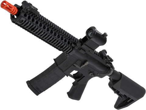 EMG Colt Licensed M4 SOPMOD Block 2 Airsoft AEG Rifle with Daniel Defense Rail System (Model: 9.5 MK18 / Black)