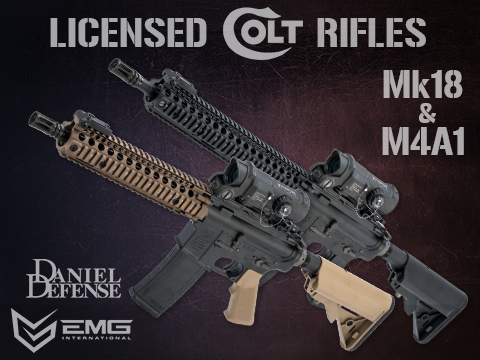 EMG Colt Licensed M4 SOPMOD Block 2 Airsoft AEG Rifle with Daniel Defense Rail System (Model: 12 M4A1 / Tan)