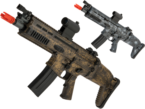 VFC FN Herstal SCAR-L Airsoft AEG Rifle w/ Black Sheep Arms Custom Cerakote (Model: CQC / Roots Camo)