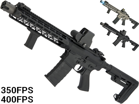 EMG Falkor Blitz SBR Airsoft AEG Rifle w/ eSE Electronic Trigger (Color: Black Out / 350 FPS)