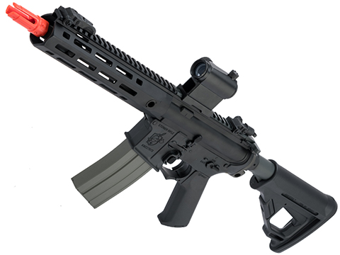 Helios Knight's Armament Licensed SR-16E Mod2 MLOK Airsoft AEG Rifle (Model: CQB / Black)