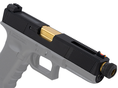 EMG SAI Utility Slide Set for GLOCK 17 Gen.4 Series GBB Pistols (Type: Black Slide / Gold Barrel)