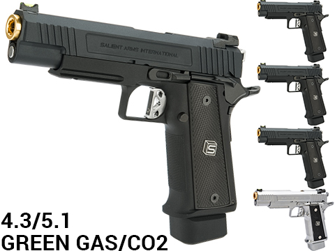 EMG / Salient Arms International 2011 4.3 DS Full Auto Select Fire GBB Pistol (Color: Black / Green Gas)