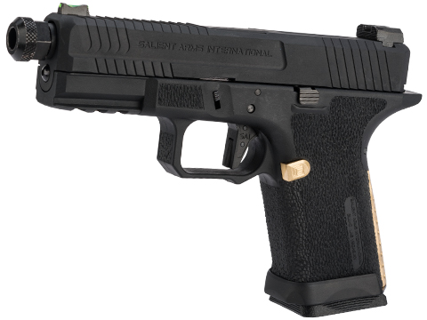 EMG Salient Arms International BLU Compact Airsoft Training Weapon w/ Brass Backstrap and Magazine Release