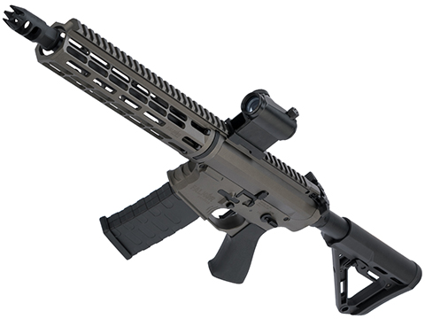 EMG Falkor Blitz Compact M4 w/ eSilverEdge Gearbox Airsoft AEG Training Rifle (Color: Falkor Grey / RS3 Stock / 350 FPS)