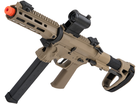EMG / Sharps Bros Licensed Jack9 Metal Receiver Advanced EFCS Pistol Caliber Carbine Airsoft AEG (Model: M-LOK / SBR / Dark Earth)