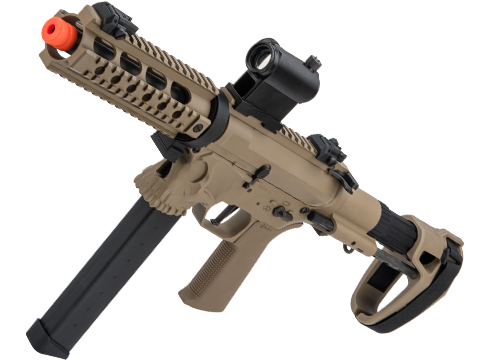 EMG / Sharps Bros Licensed Jack9 Metal Receiver Advanced EFCS Pistol Caliber Carbine Airsoft AEG (Model: Picatinny / SBR / Dark Earth)