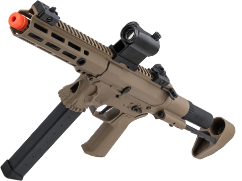 Helios / Sharps Bros Licensed Jack9 Polymer Receiver Advanced EFCS Pistol Caliber Carbine Airsoft AEG (Model: M-LOK / SBR / Dark Earth)