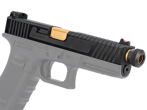EMG SAI Tier 2 Slide Set for GLOCK 17 Gen.4 Series GBB Pistols (Type: Black Slide / Gold Barrel)