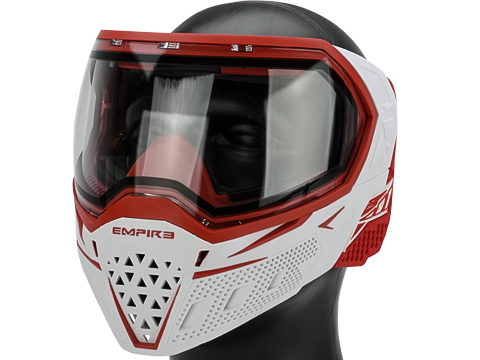 Empire Paintback EVS Full Face Mask (Color: White & Red / Clear Thermal Lens)