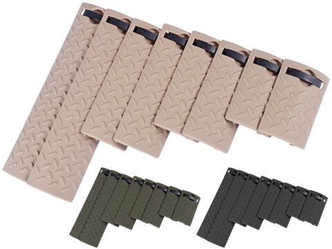 Energy Diamond Plate Rail Covers - Set of 8