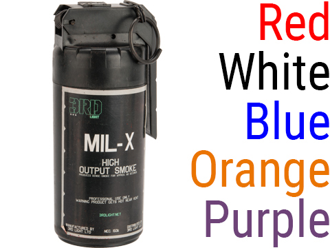 MIL-X Military / Law Enforcement Style Smoke Grenade w/ Spoon Ignition by Enola Gaye (Color: White)