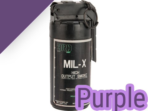 MIL-X Military / Law Enforcement Style Smoke Grenade w/ Spoon Ignition by Enola Gaye (Color: Purple)