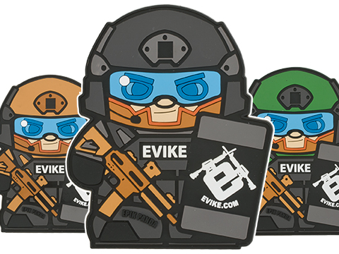 Epik Panda Evike Matt PVC Rubber Hook and Loop Morale Patch