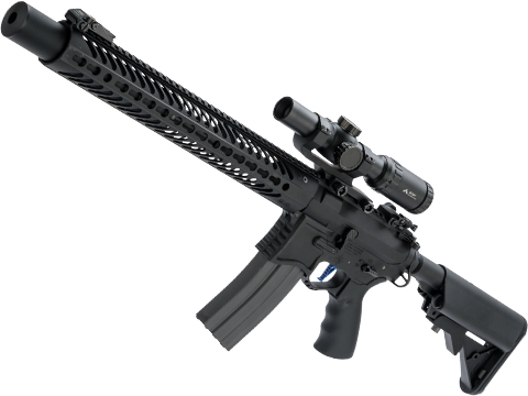 Evike Performance Shop Custom EMG Seekins Precision Licensed AR-15 SP223 Airsoft AEG Rifle (Model: Black / 375 FPS)