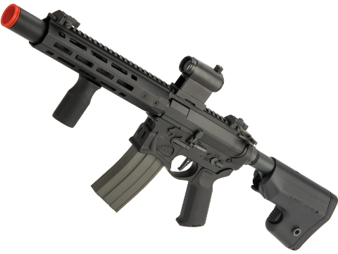 Evike Performance Shop Custom EMG Sharps Bros Warthog Airsoft AEG Rifle (Model: Black / 10 SBR / 365 FPS)
