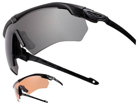 ESS Crossbow Ballistic Eyeshield Package (Color: Black Frame / Clear  Lenses)