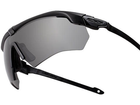 ESS Crossbow Ballistic Eyeshield Package (Color: Black Frame / Clear and Smoke Gray Lenses)