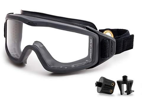 ESS FirePro 1971 FS One Piece Full Seal Goggles with Velcro® Snap On/Off Mounting Brackets