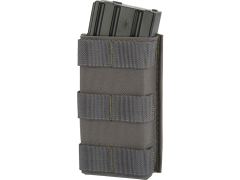 Esstac Single Tall 5.56mm KYWI Magazine Pouch (Color: Wolf Grey)